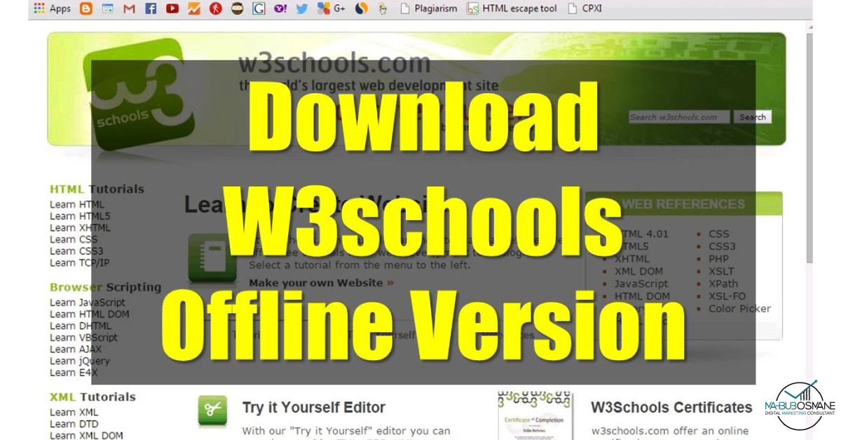 w3schools-এর-অফলাইন-ভার্সন
