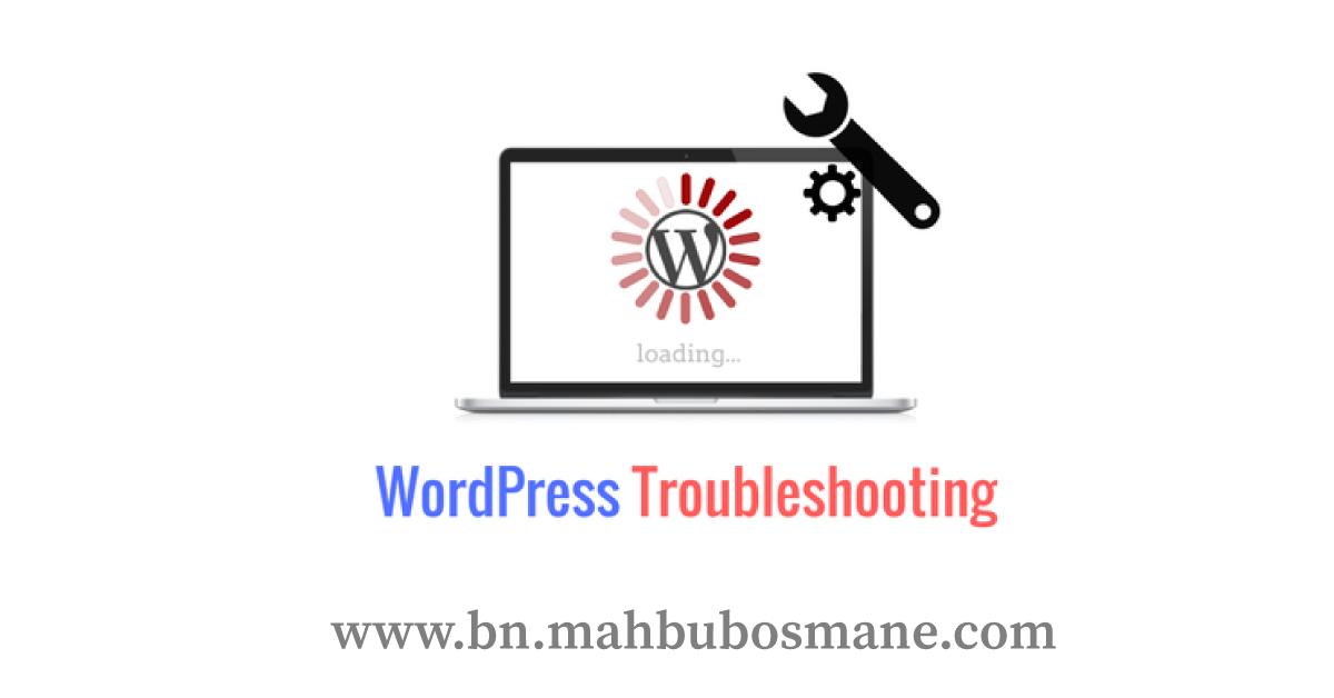 Troubleshooting-WordPress
