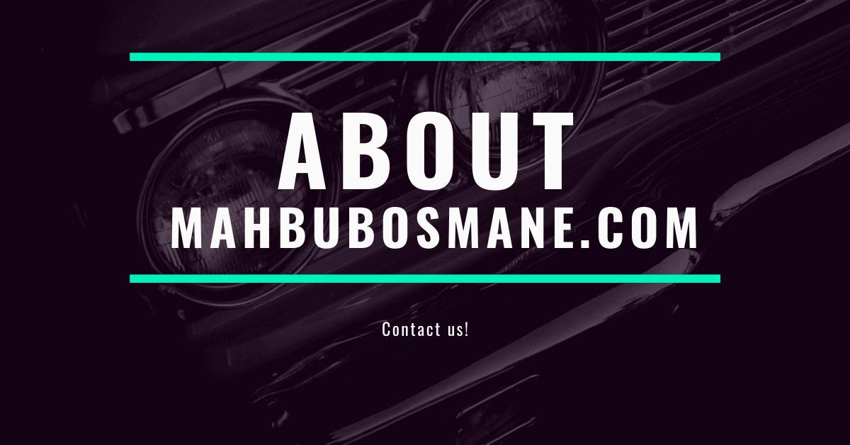 ABOUT MAHBUBOSMANE.COM